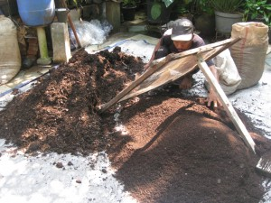 Kompos matang, ini hasil akhir dari proses urai sampah